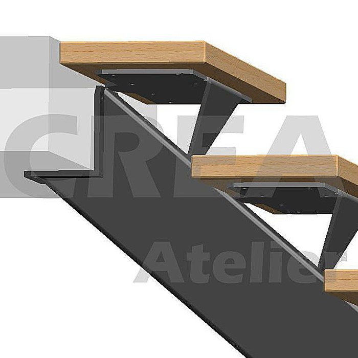 escalier metal limon central cr 233 a atelier